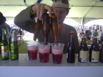 Triple pour of Liefmans Fruitesse at Cape Town Festival of Beer 2011