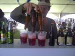 Triple pour of Liefmans Fruitesse at Cape Town Festival of Beer 2011