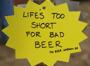 Beer Garden motto