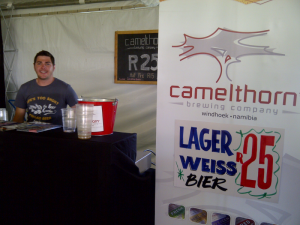 David at Camelthorn Brewing stand