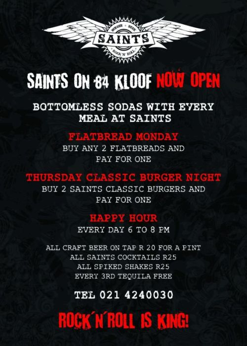 Saints Burger Joint specials