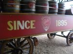 Castle Lager cart with beer kegs