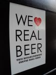 We Love Real Beer sticker