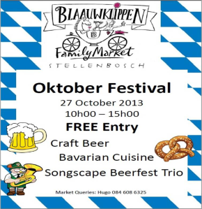 Blaauwklippen Vineyards October beer fest 27 October 2013